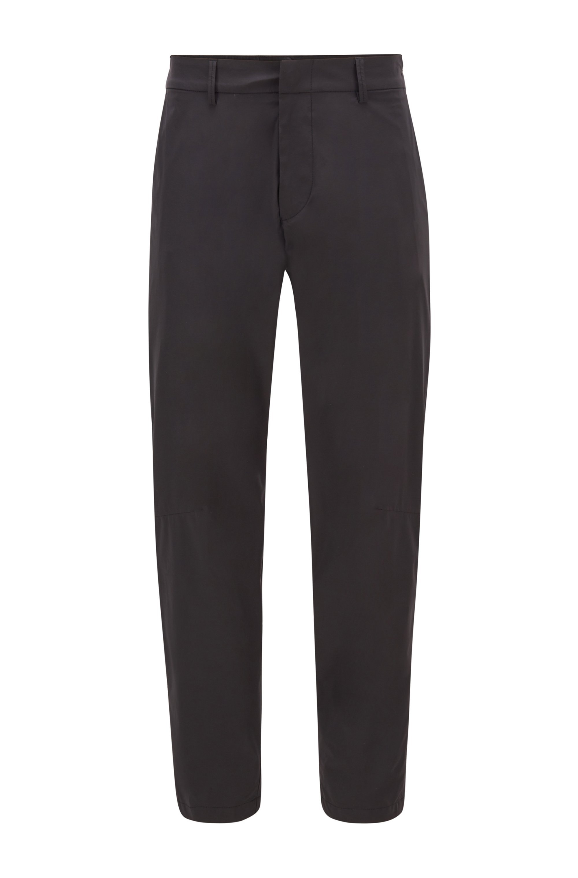 Pantalon Slim Fit en tissu stretch déperlant, Noir