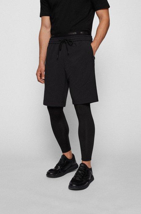 Hybride hardlooplegging en -shorts, Zwart