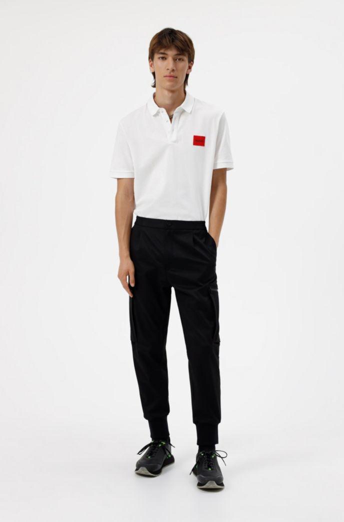 Slim-fit cotton-piqué polo shirt with logo patch
