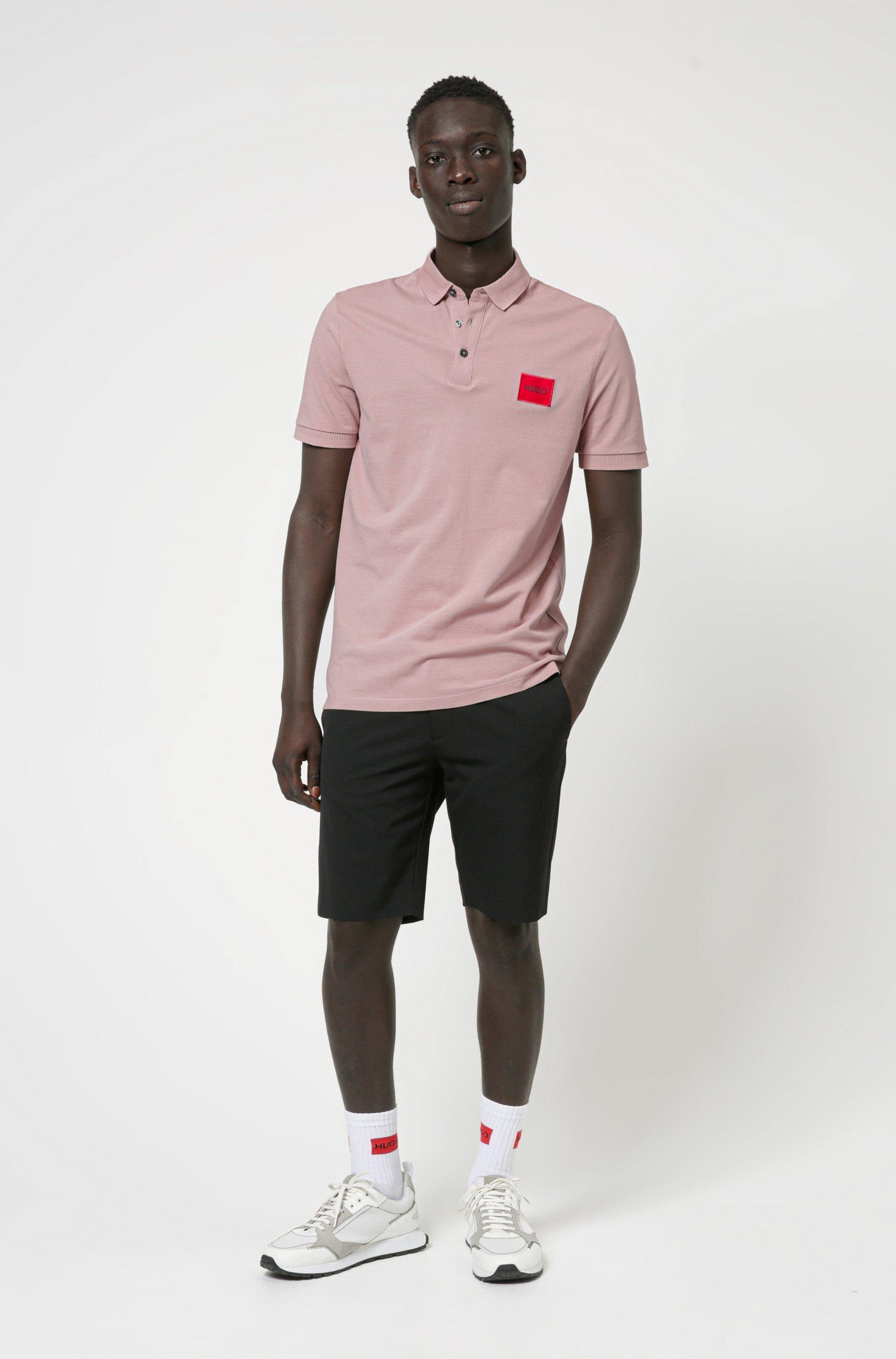 Poloshirt aus Baumwoll-Piqué mit Logo-Aufnäher