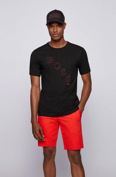 T-Shirt aus Bionic® SingleJersey mit Logo, Schwarz