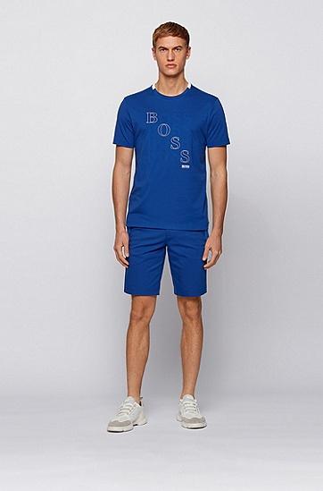 徽标图案常规版型 Bionic® 平纹单面针织布 T 恤,  438_亮蓝色
