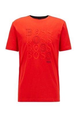T-shirt Regular Fit à logo en jersey simple Bionic®, Rouge