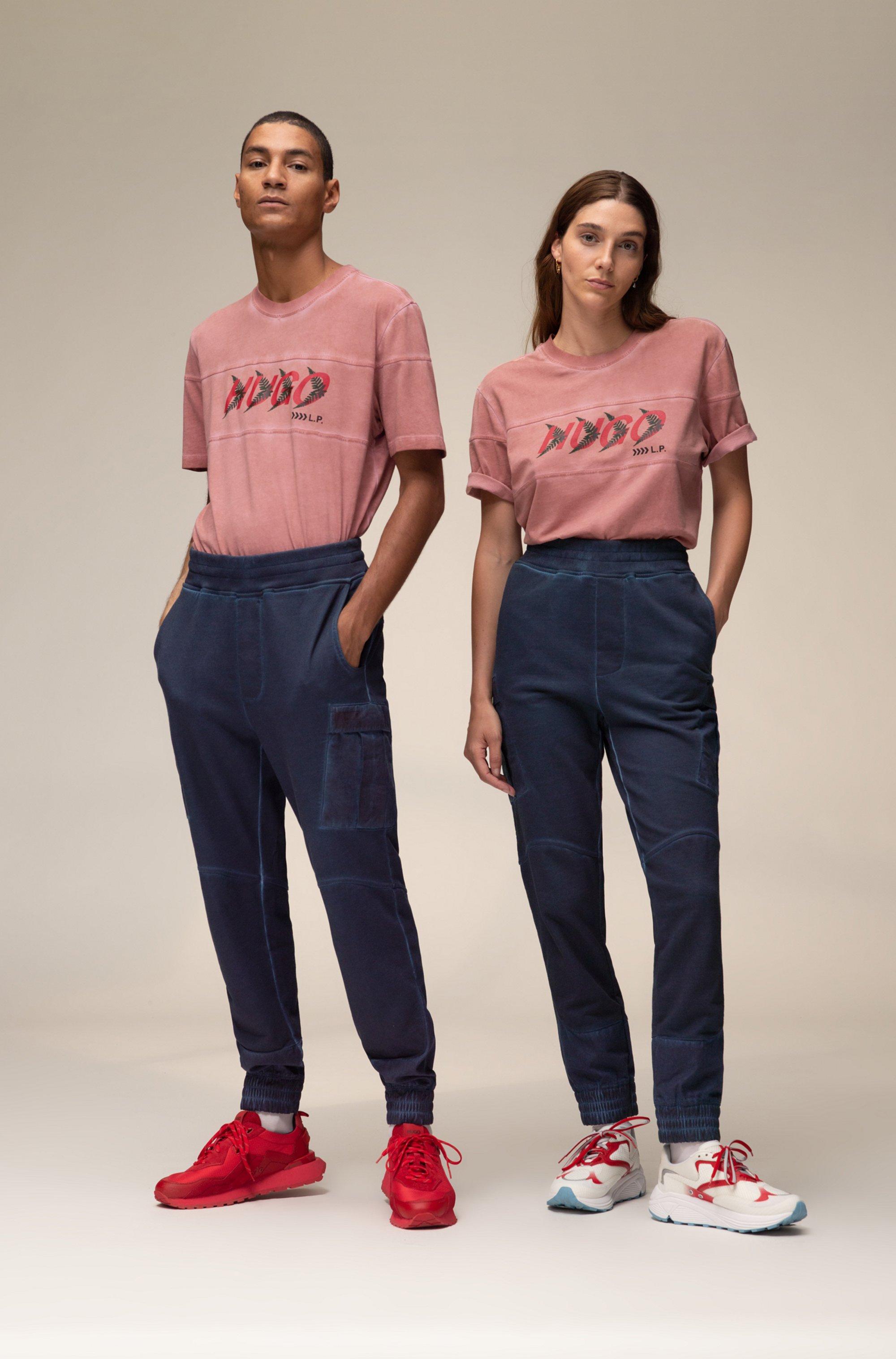 T-shirt unisex in cotone con motivo con logo ispirato al bosco