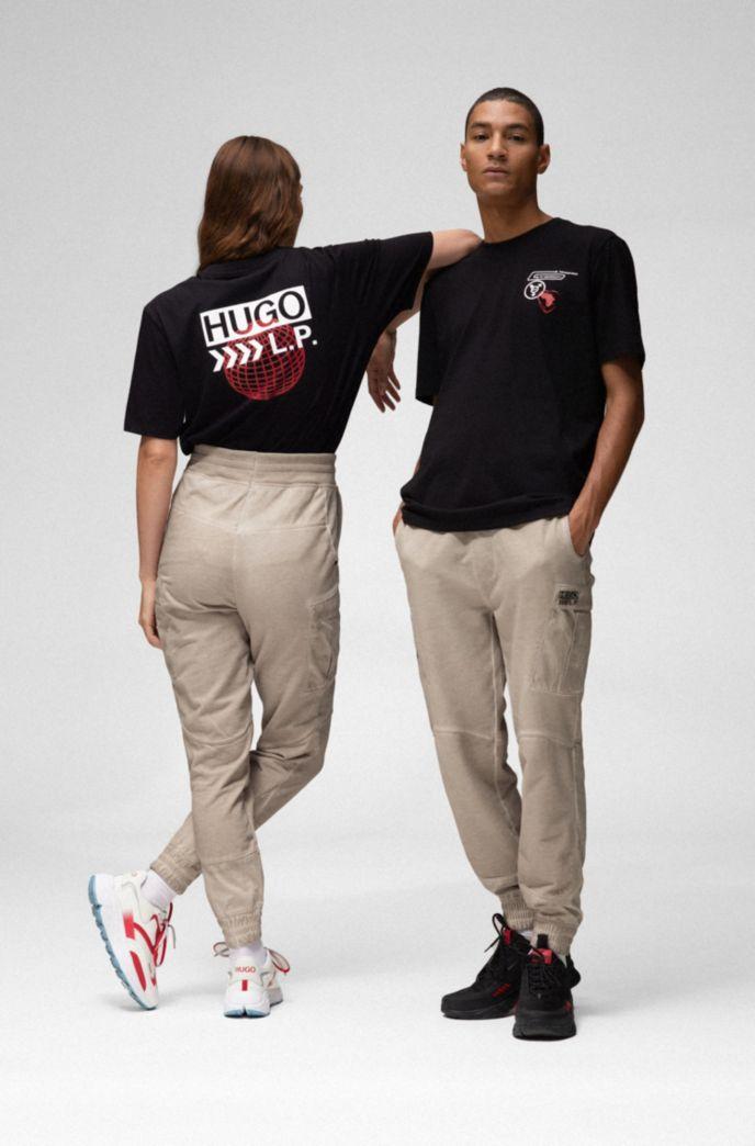 Camiseta unisex de algodón con ilustración de planeta