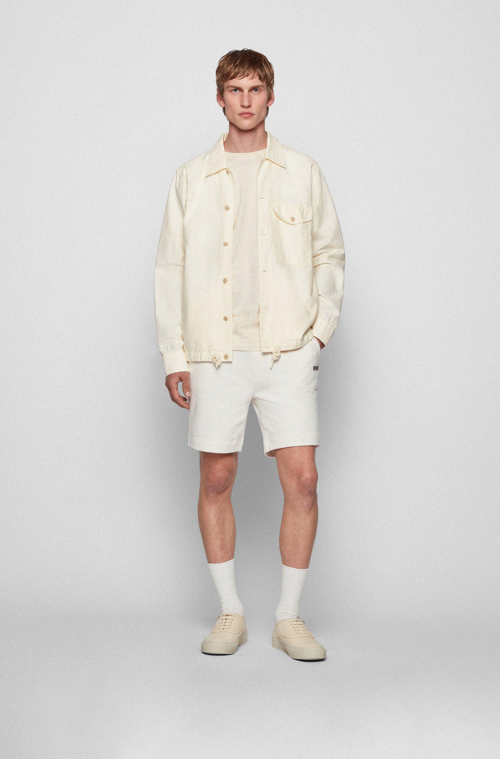 Camicia oversize in cotone biologico e canapa