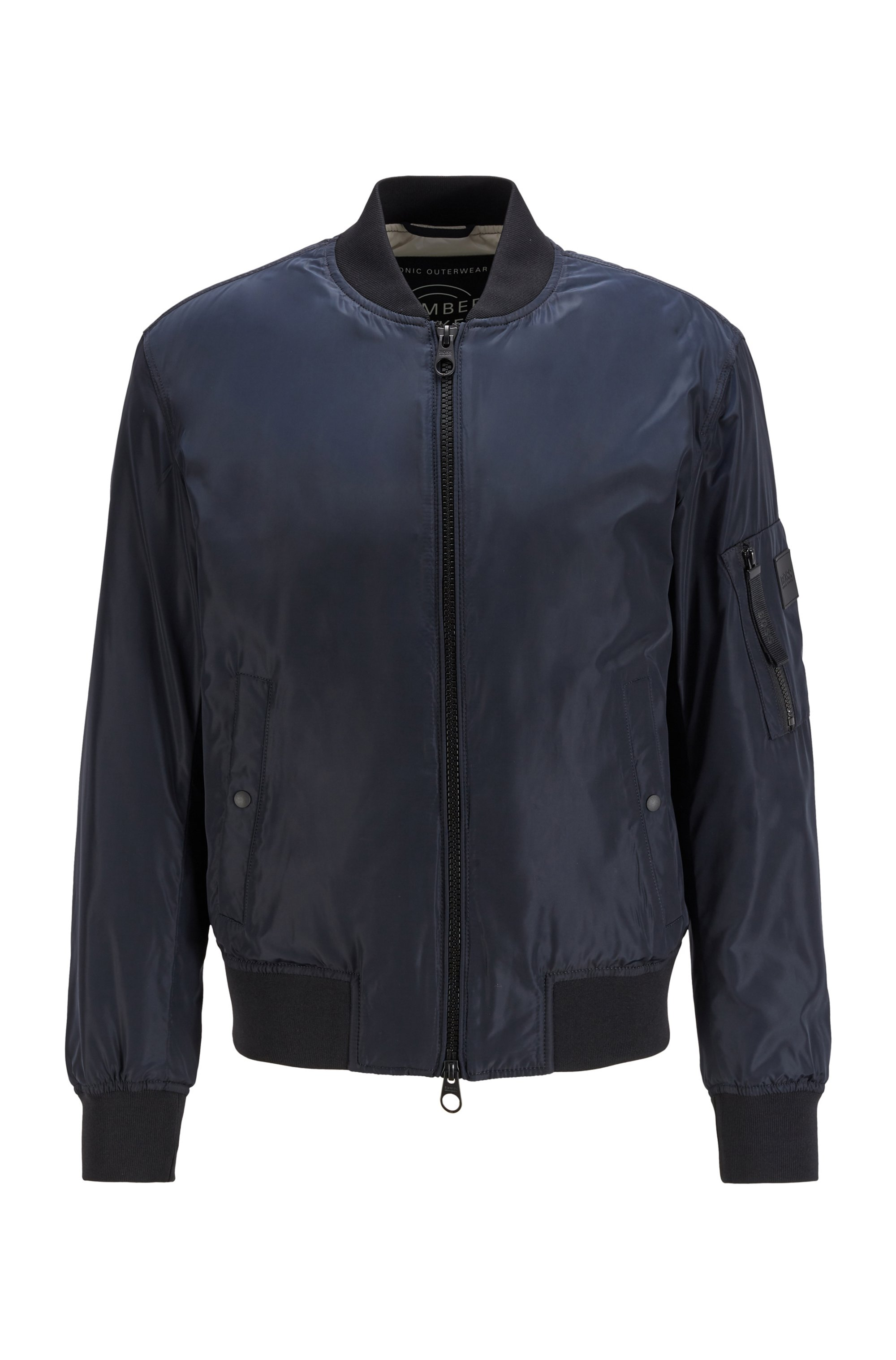 Water-repellent bomber jacket with light padding, Dark Blue