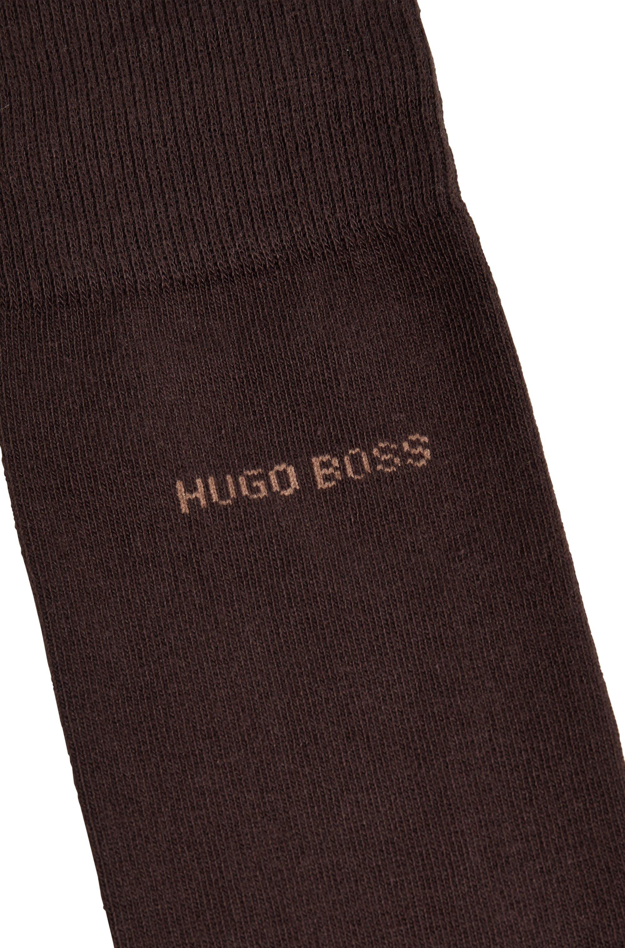 Two-pack of regular-length socks in a cotton blend
