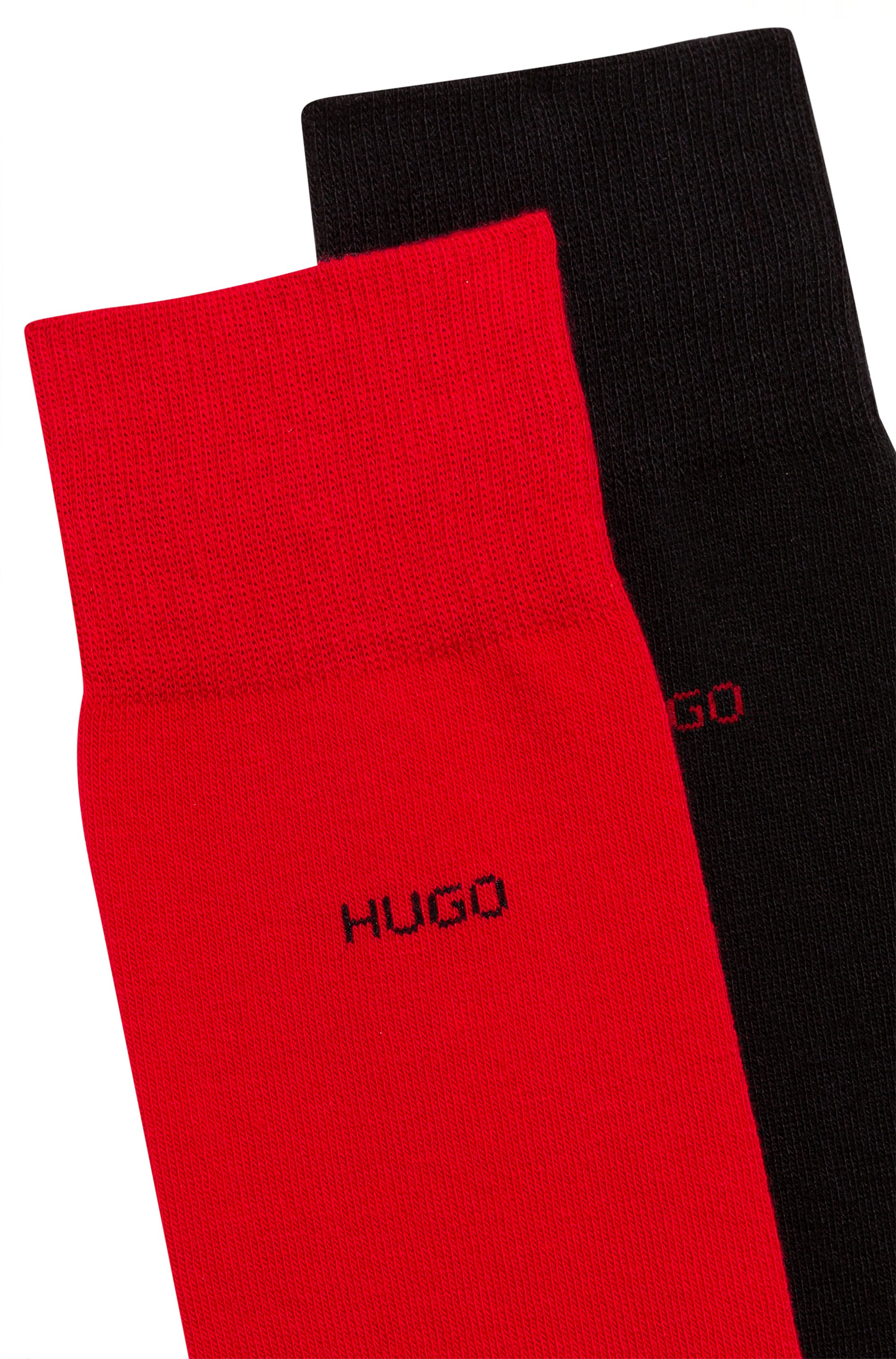 Two-pack of logo socks in a combed-cotton blend