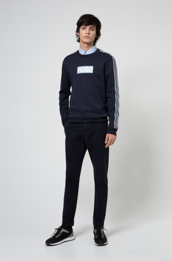French-terry cotton sweatshirt with tyre-logo prints