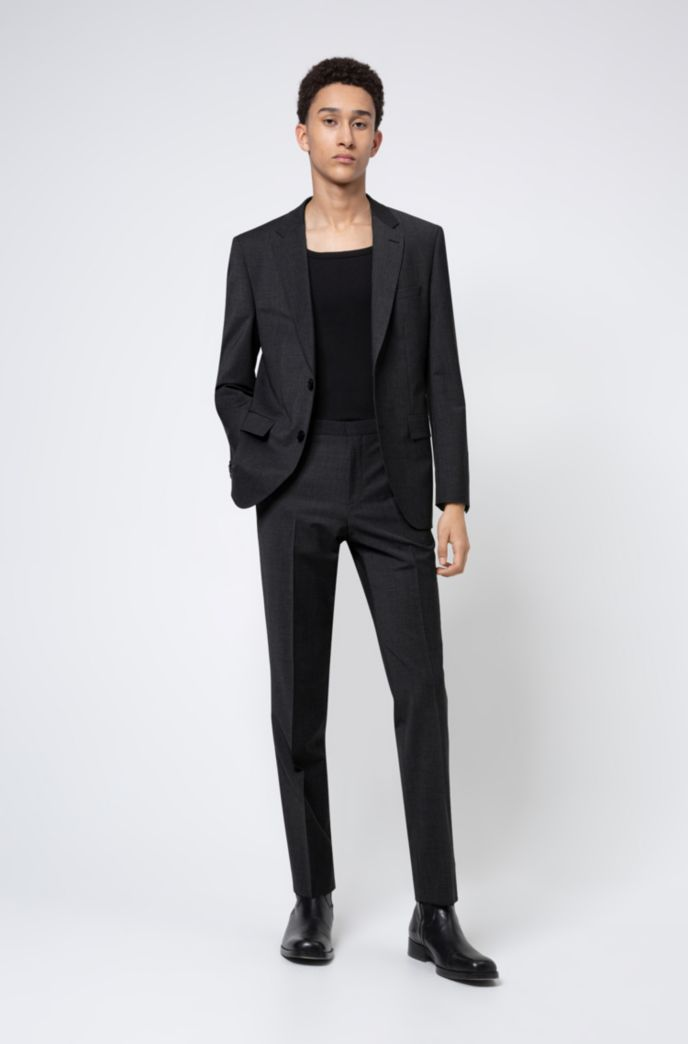 Regular-fit suit in a stretch-virgin-wool blend