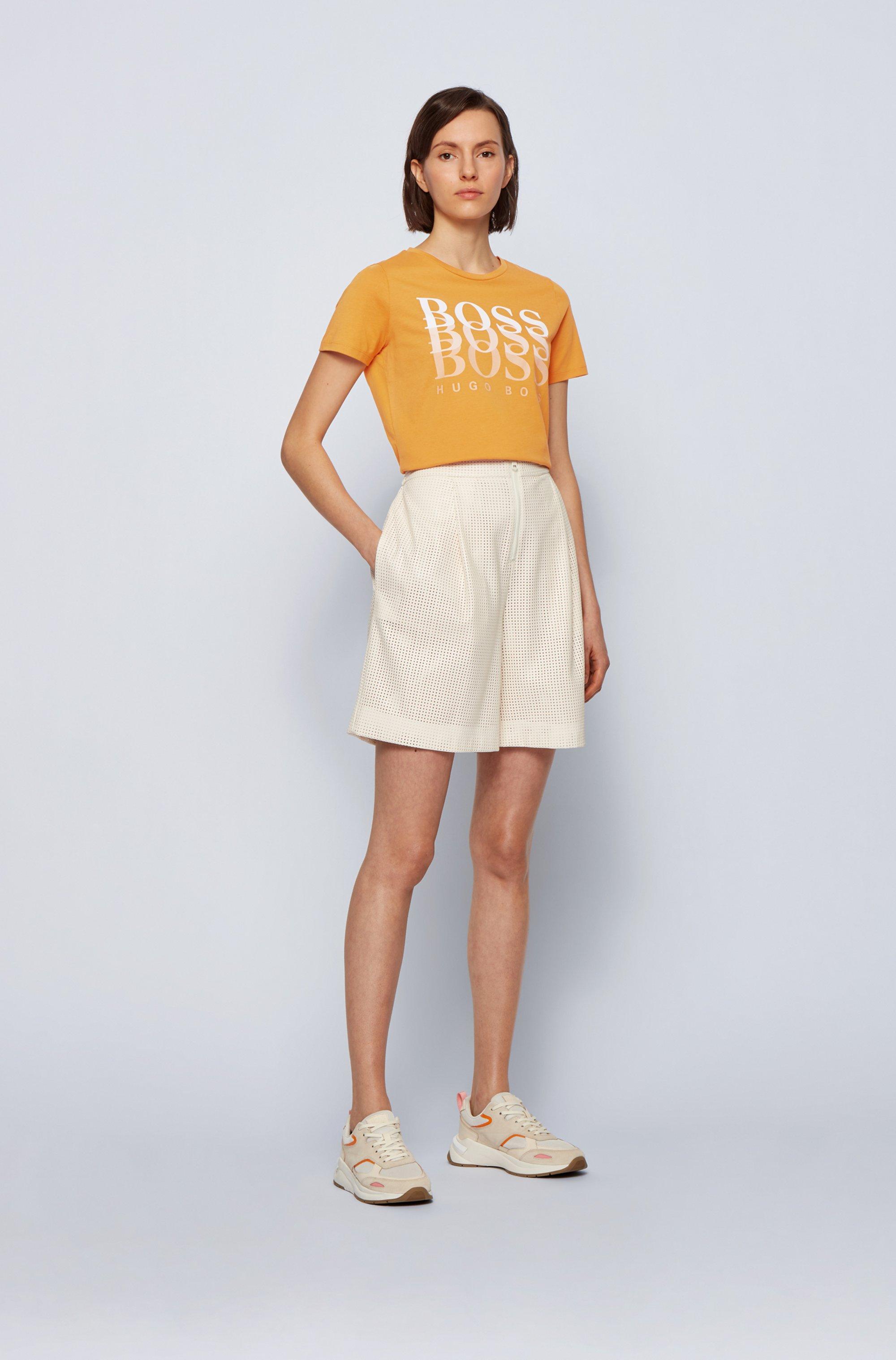 T-shirt Regular Fit en coton biologique avec logo en dégradé