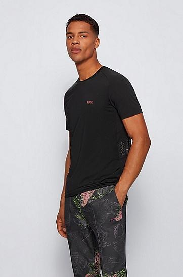 装饰性背面镶片修身 T 恤,  001