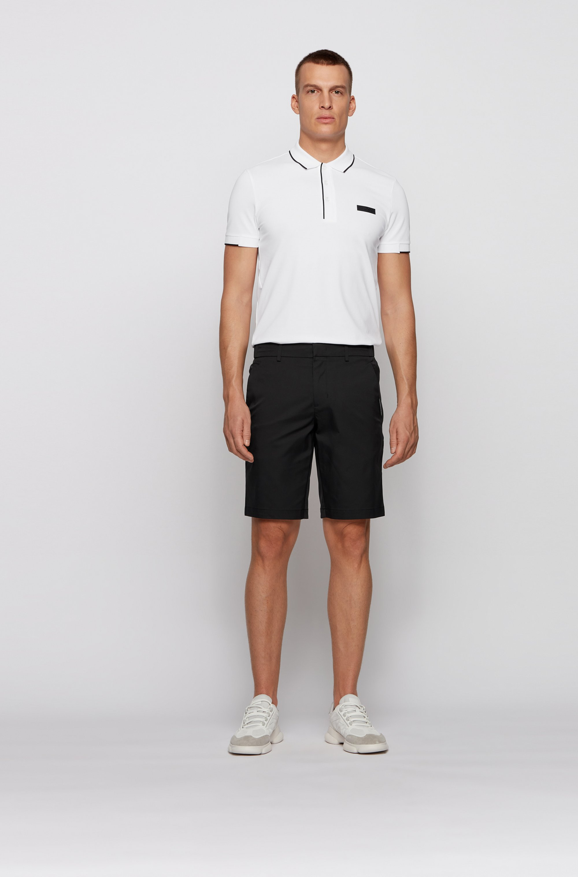 Slim-fit polo shirt in S.Café® fabric