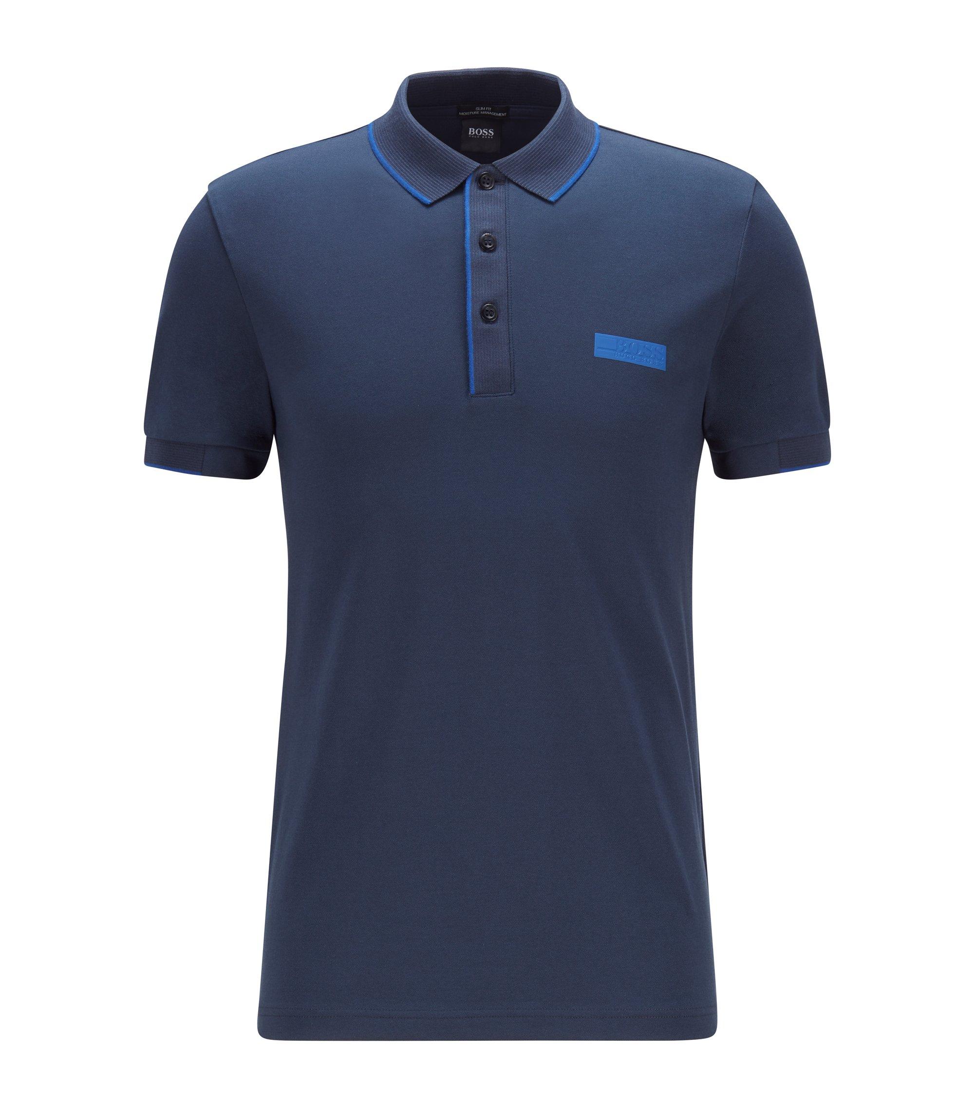 Hugo Boss Paule 3 Slim-fit polo shirt in S.Café® fabric 50435630 410