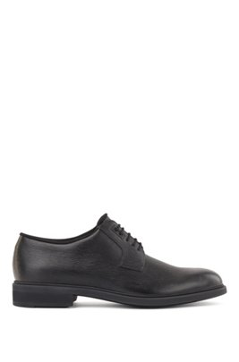 Italian-made Derby shoes in leather with Outlast® lining, Black