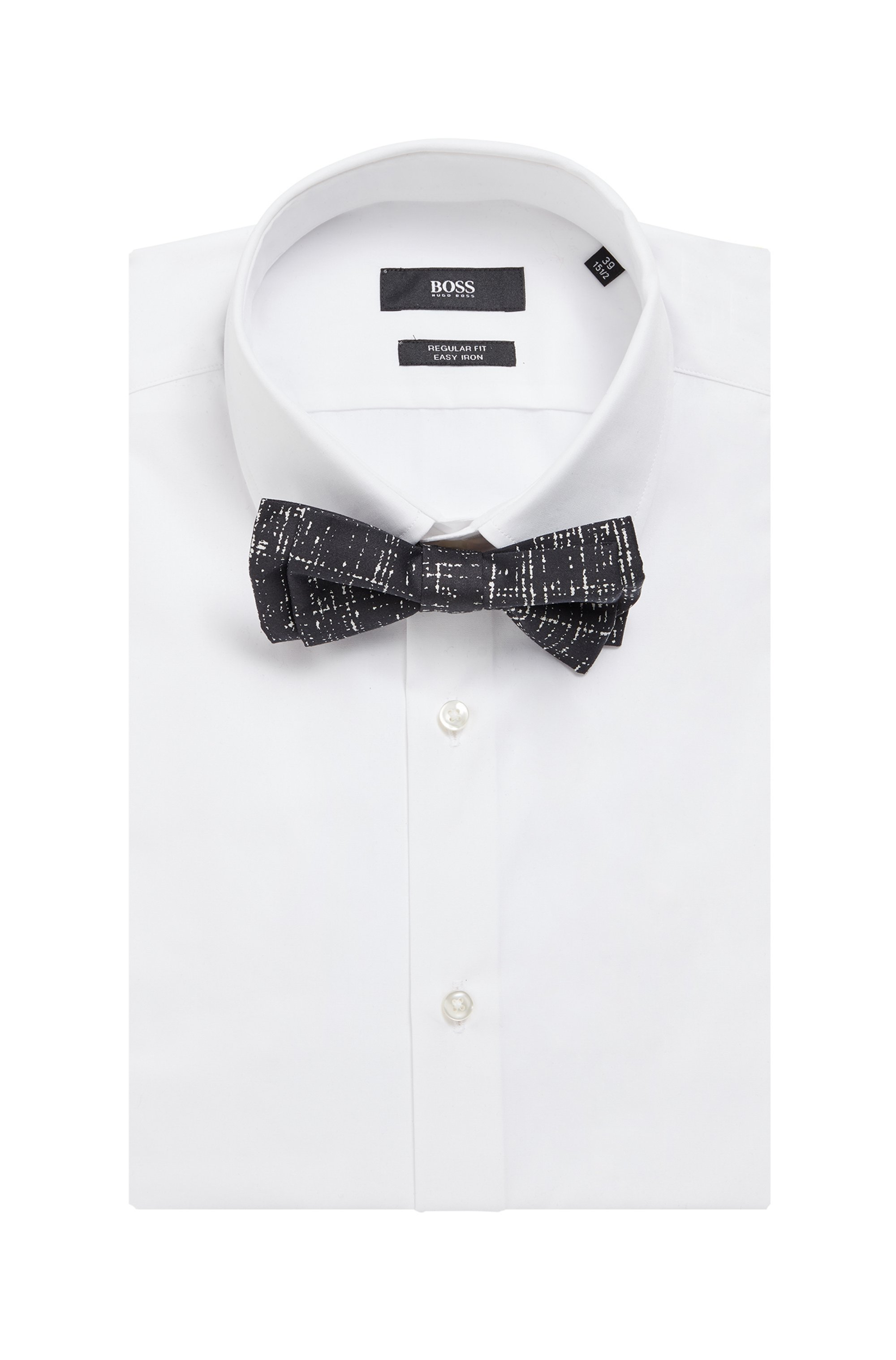 Bow tie in pure cotton with batik-effect print