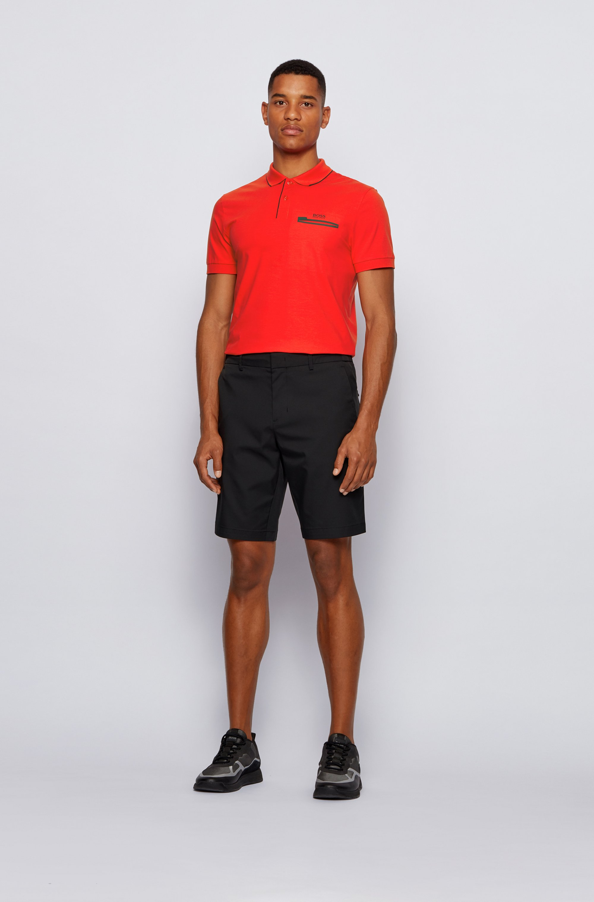 Contrast-detail polo shirt in Air Cool stretch cotton