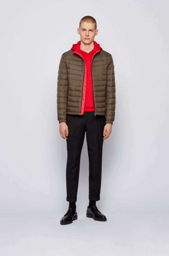 Packable down jacket in water-repellent canvas