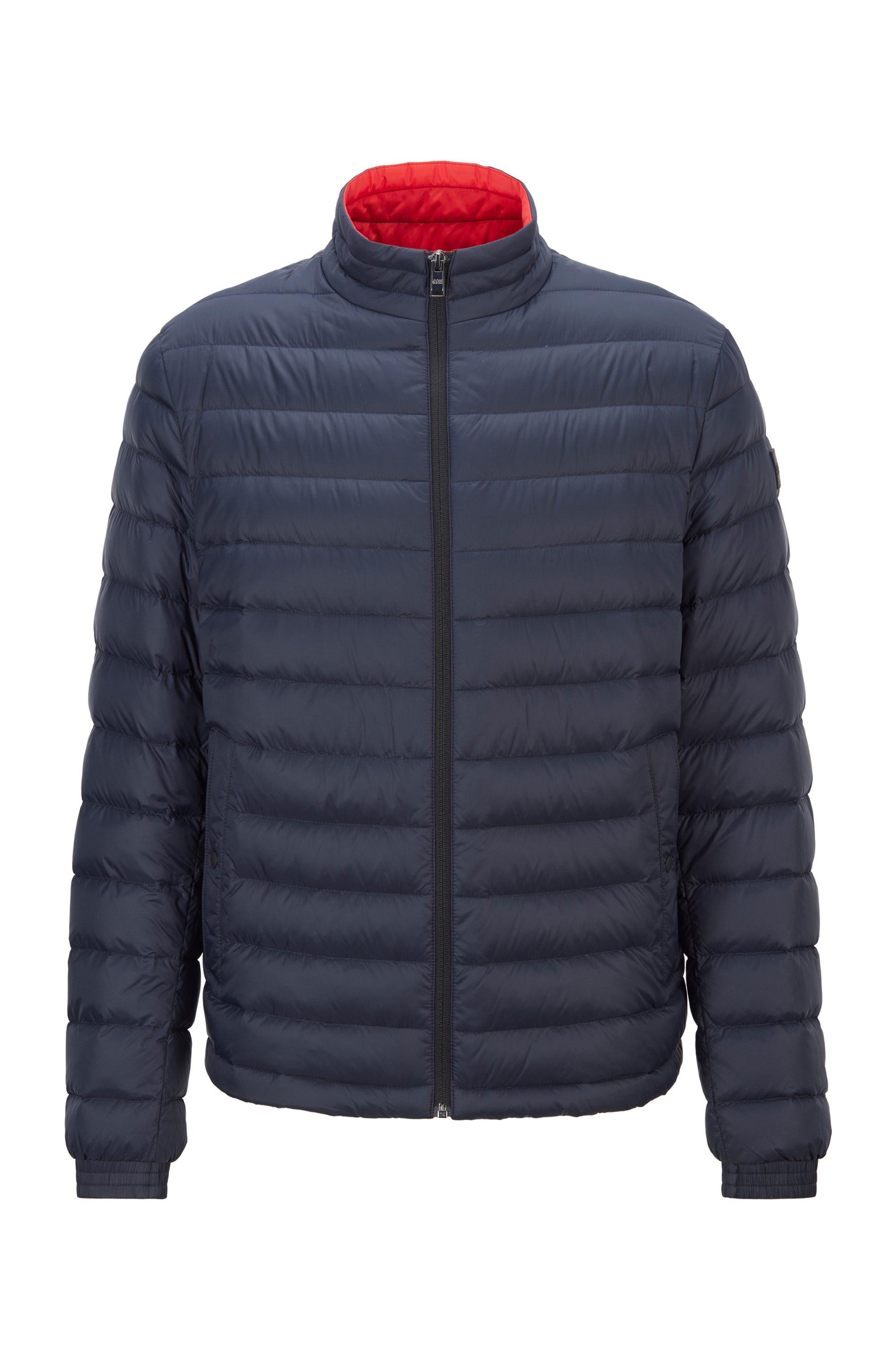 Packable down jacket in water-repellent canvas, Dark Blue