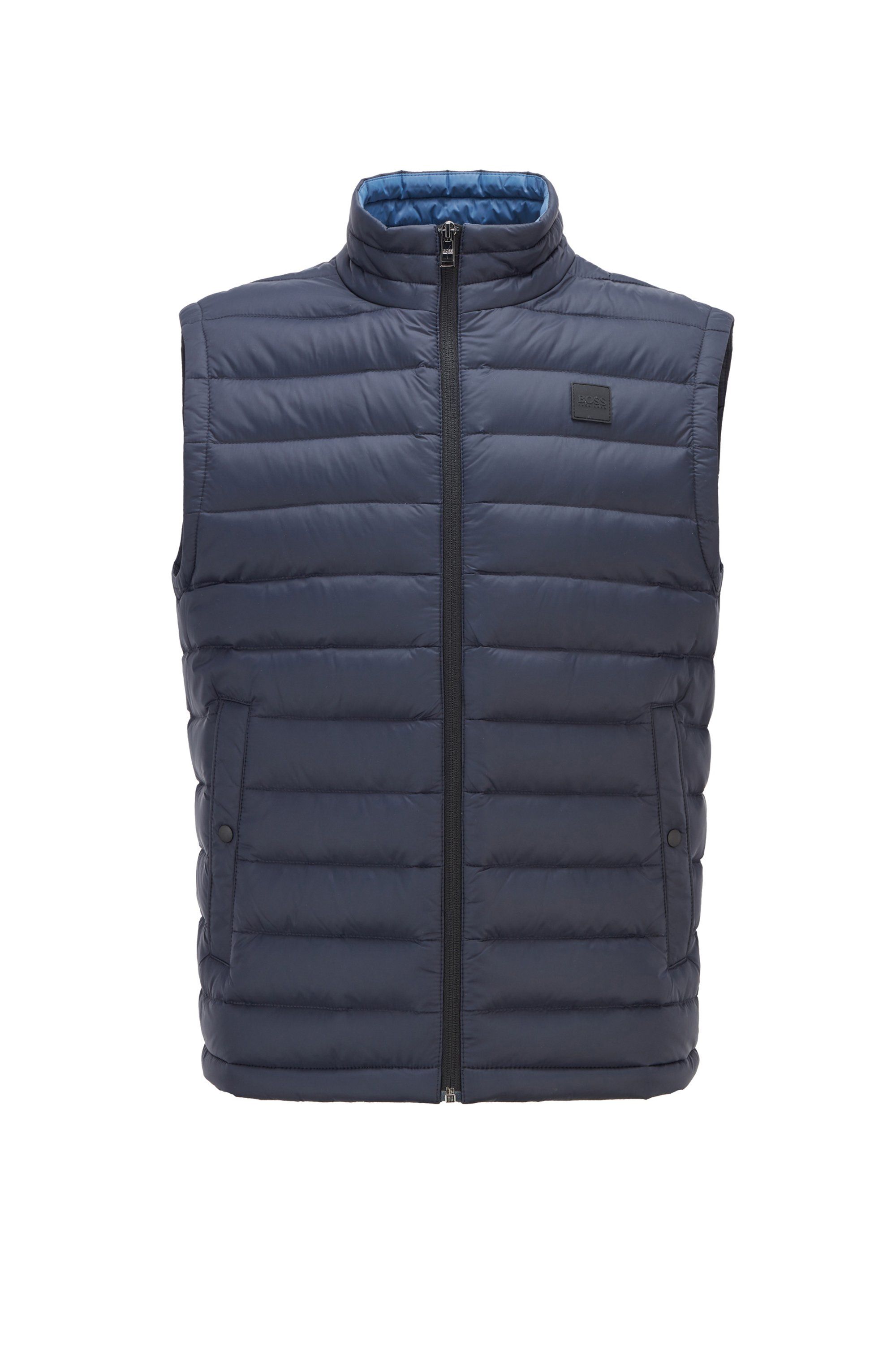 Packable down gilet with water-repellent outer, Dark Blue