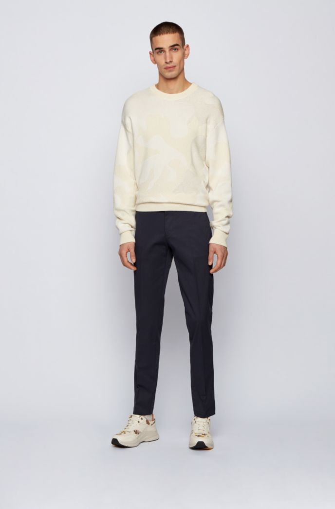 Regular-fit chinos in stretch-cotton dobby