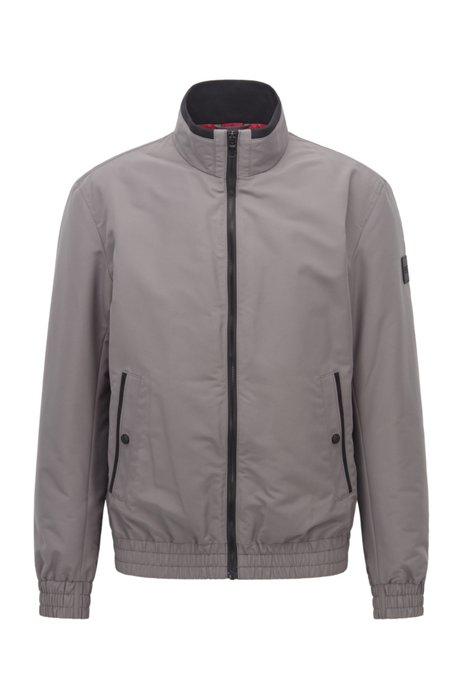 Water-repellent blouson jacket in cotton-touch fabric, Grey