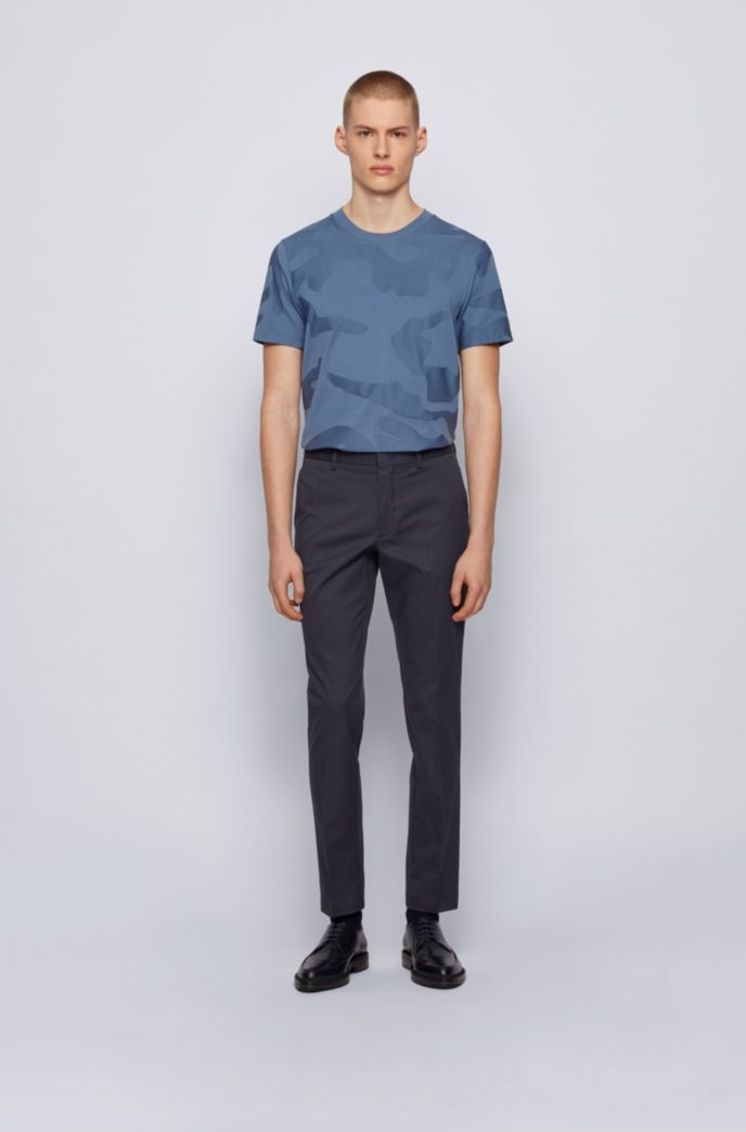 Slim-fit chinos in stretch-cotton dobby