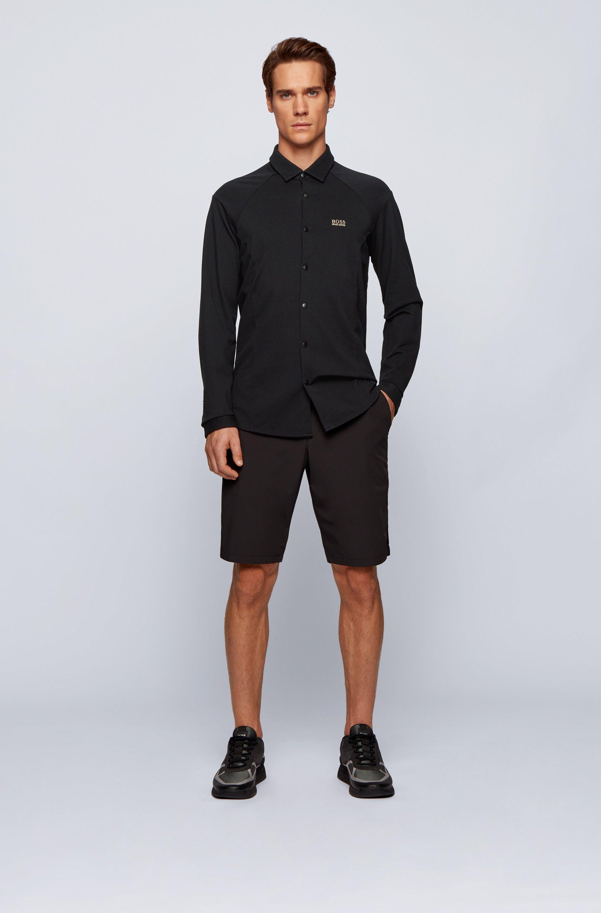 Chemise Slim Fit en jersey de coton stretch