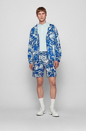 网纹结构棉质常规版型 Polo 衫,  452_Light/Pastel Blue