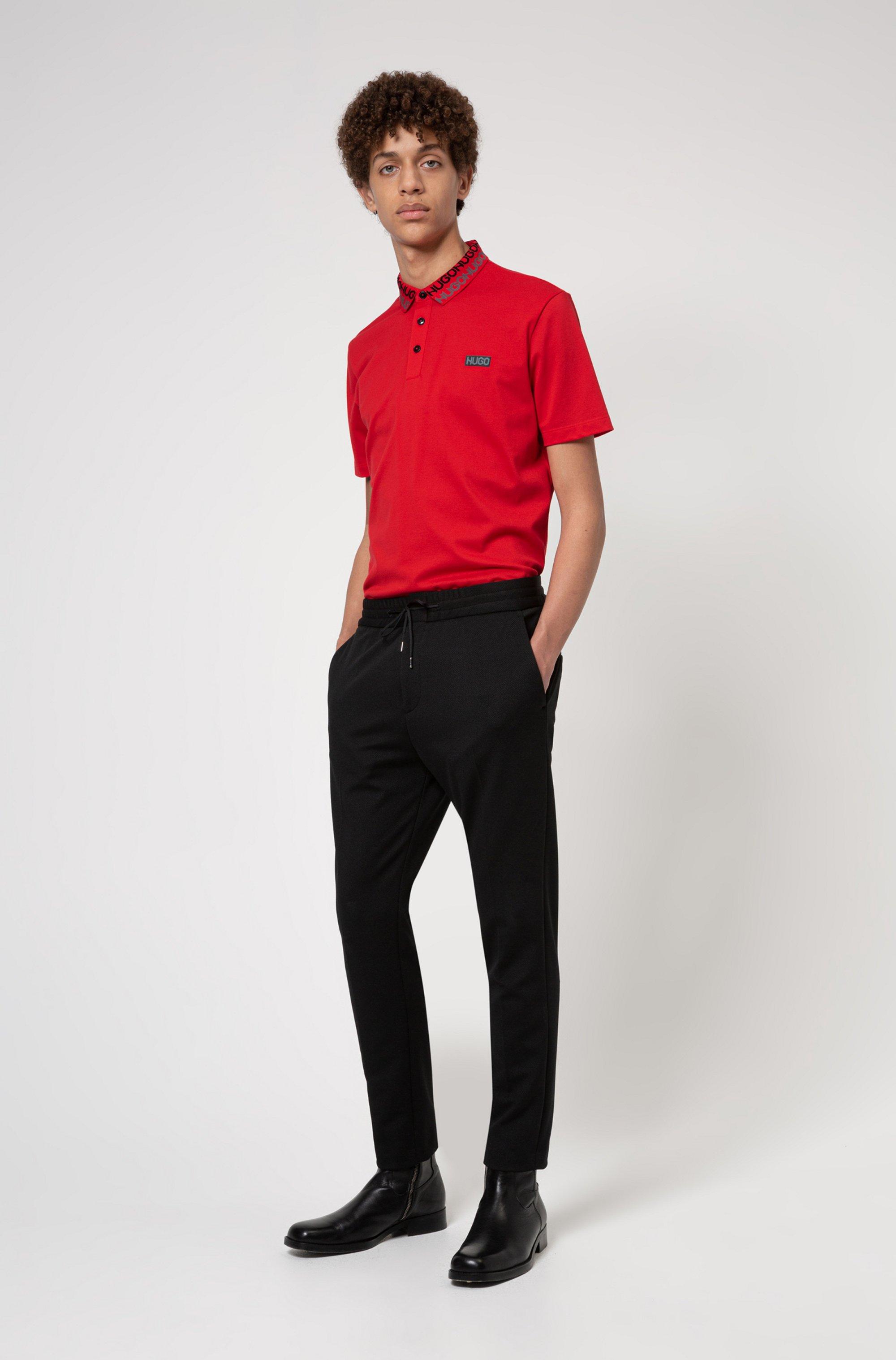 Permafit-cotton polo shirt with tyre-print logos