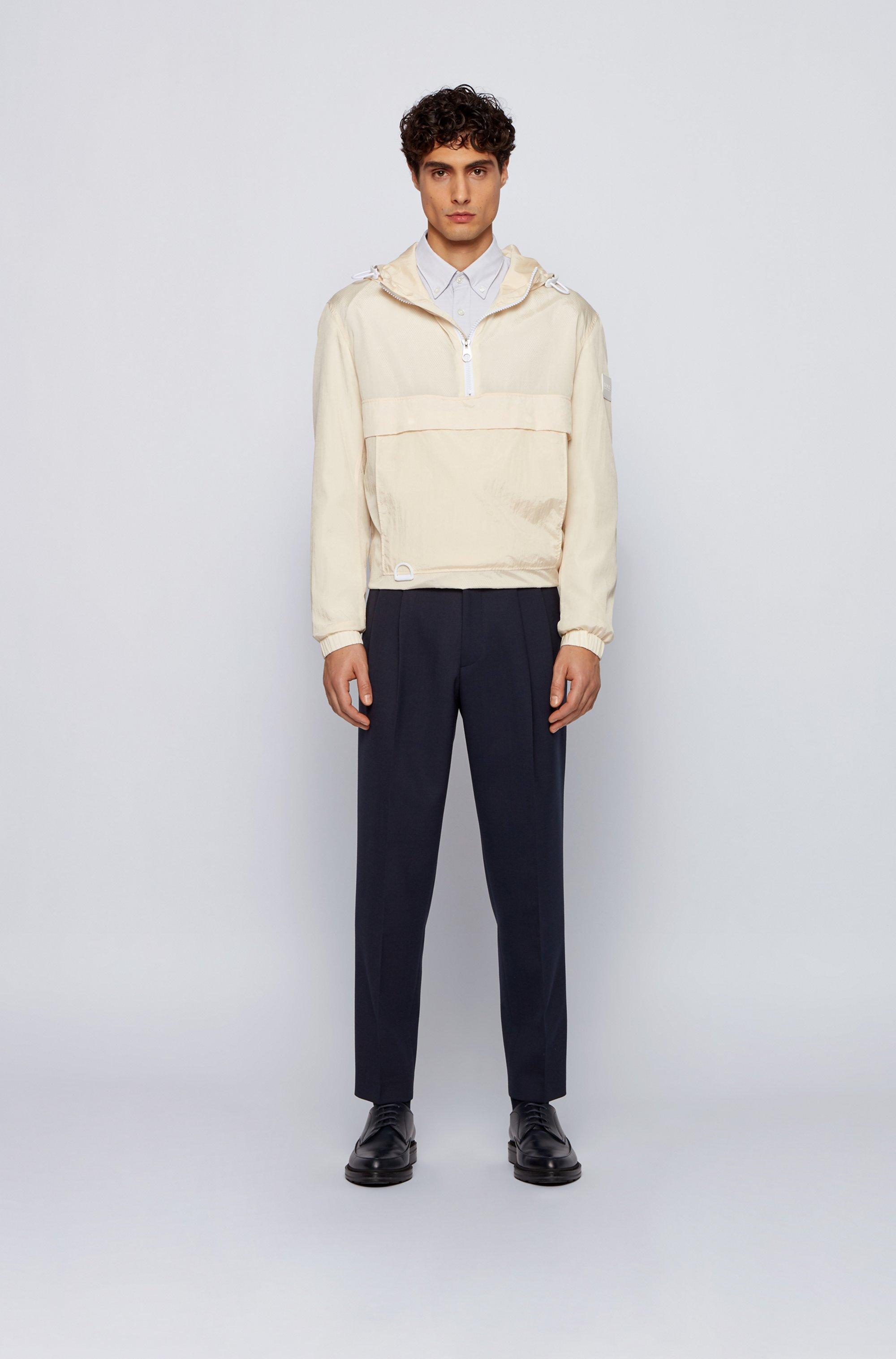 Camicia slim fit button down in cotone Oxford elasticizzato