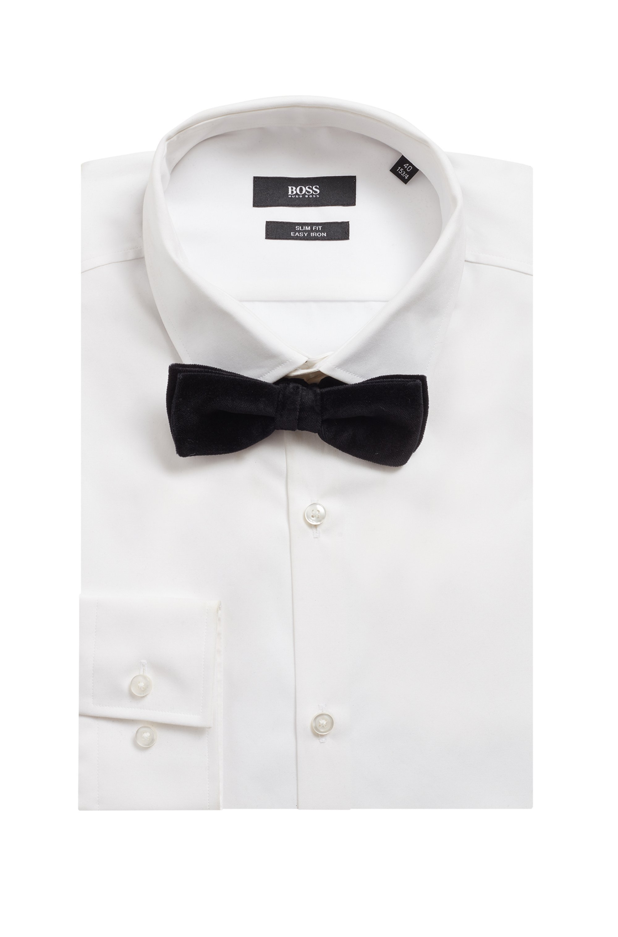 Italian-made bow tie in cotton velvet