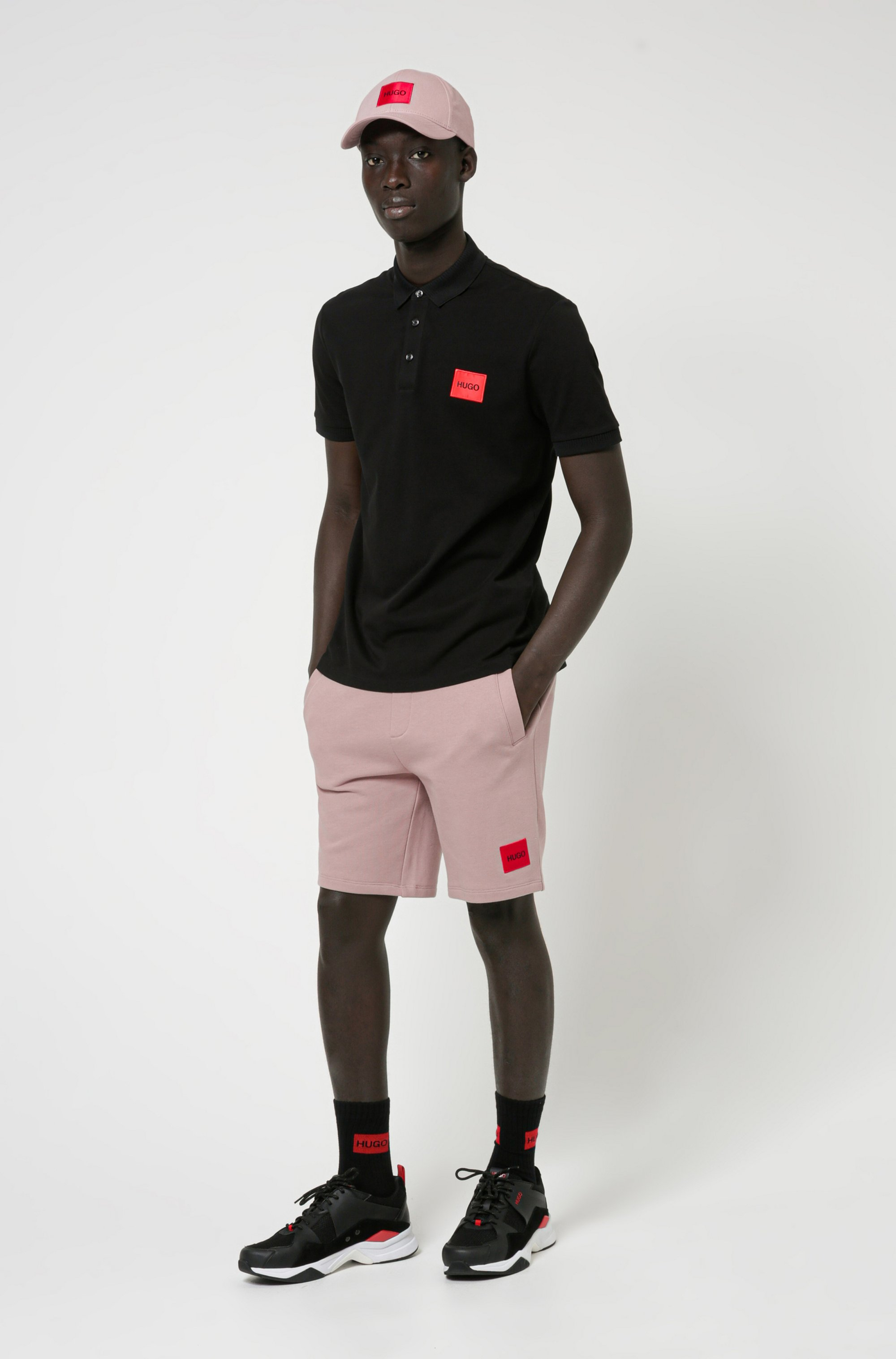 Relaxed-fit tracksuit shorts in cotton with logo label