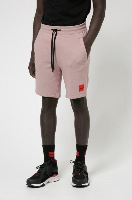 Relaxed-Fit Joggingshorts aus Baumwolle mit Logo-Etikett, Hellrosa
