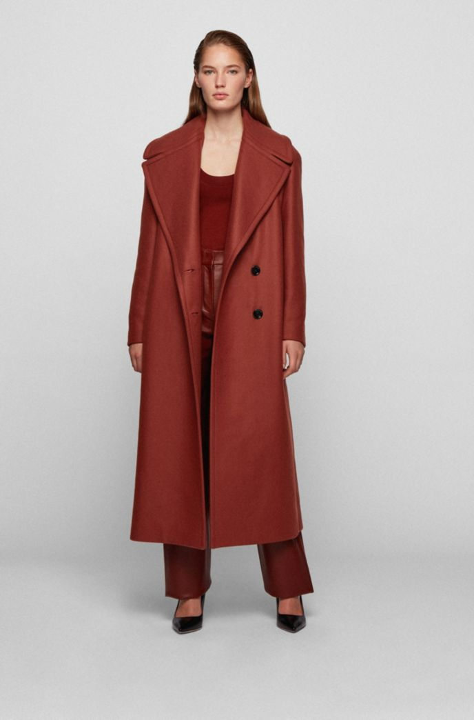 Relaxed-fit coat in Italian virgin wool with cashmere