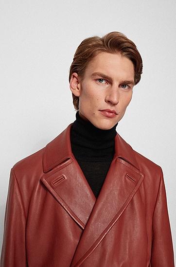 男士弹力正装大衣,  226_铜棕色