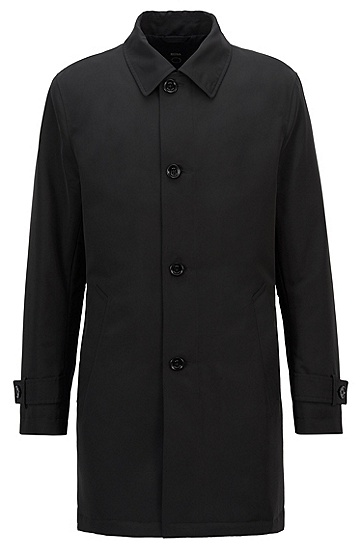再生记忆面料防水外套,  001_黑色