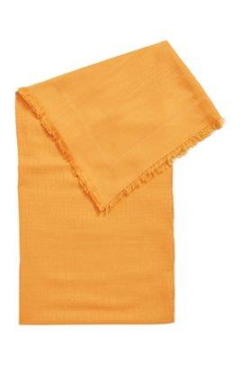 Écharpe à monogramme, en jacquard de modal et de laine, Orange