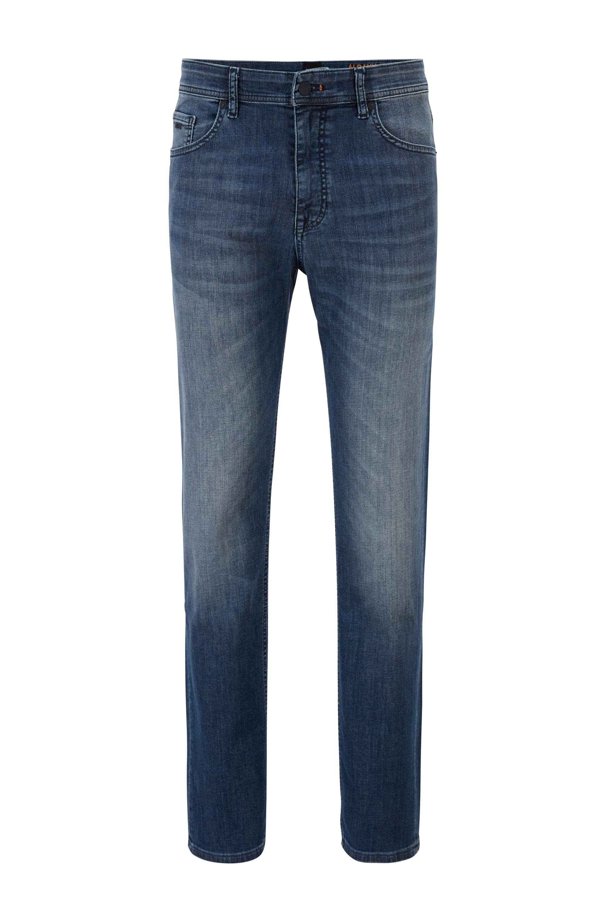 Relaxed-fit jeans in lightweight super-stretch denim, Blue