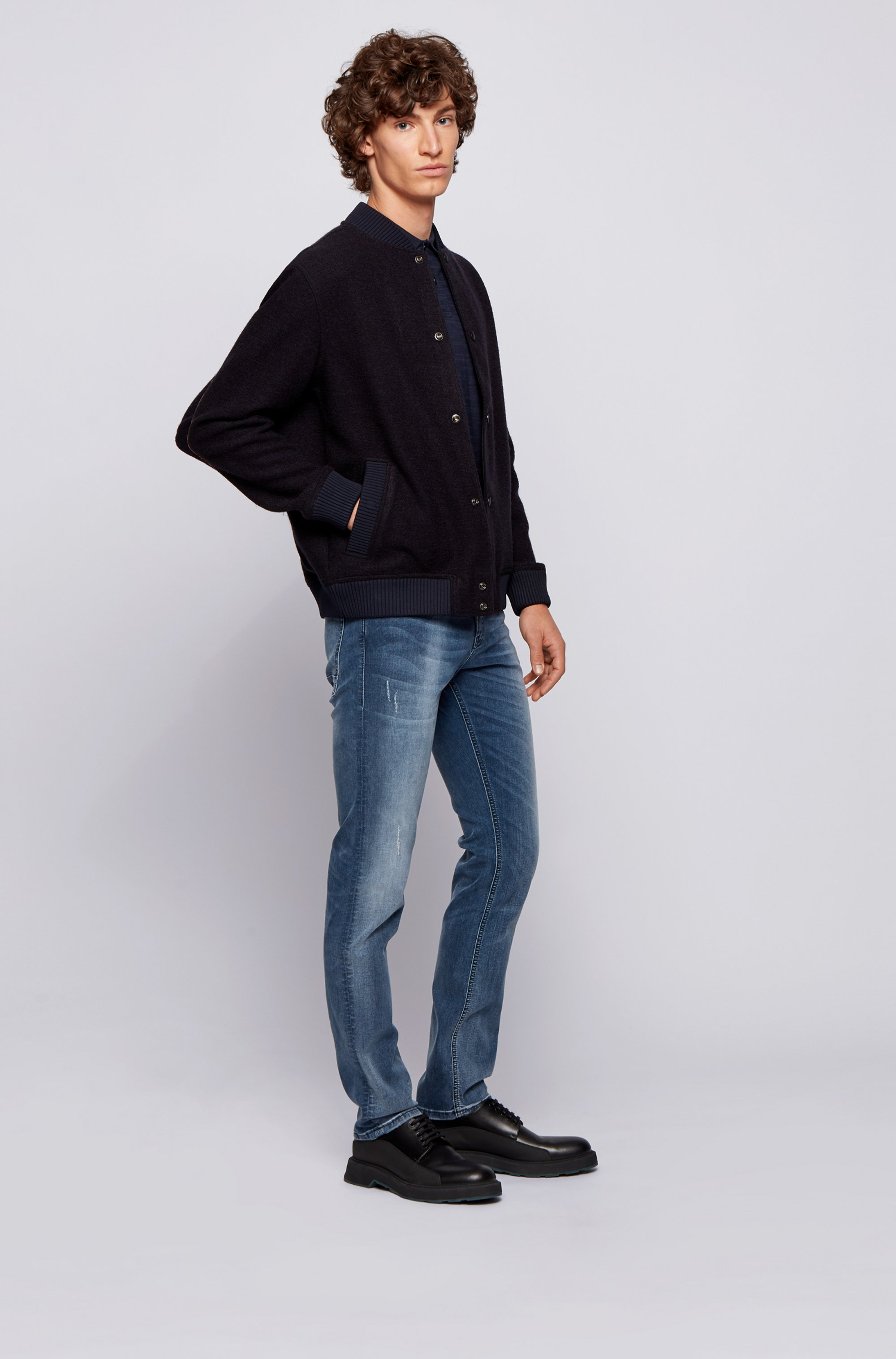 Jean Slim Fit en denim super stretch bleu