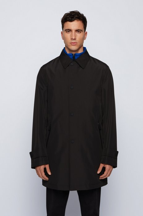 Three-in-one car coat with detachable vest, Black