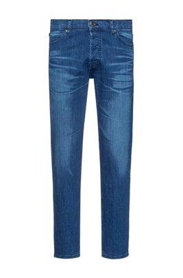 Jean Tapered Fit bleu en denim stretch confortable, Bleu