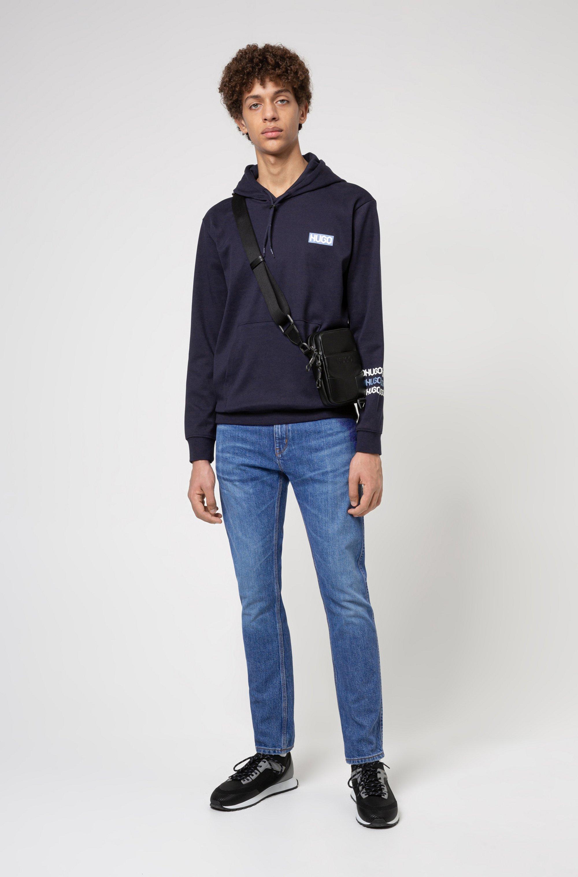 Slim-fit jeans in mid-blue comfort-stretch denim