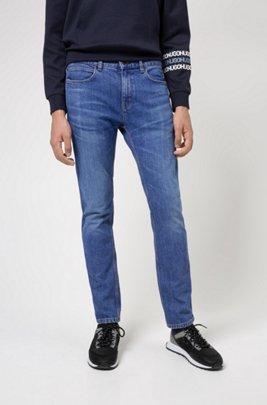 Slim-fit jeans in mid-blue comfort-stretch denim, Blue
