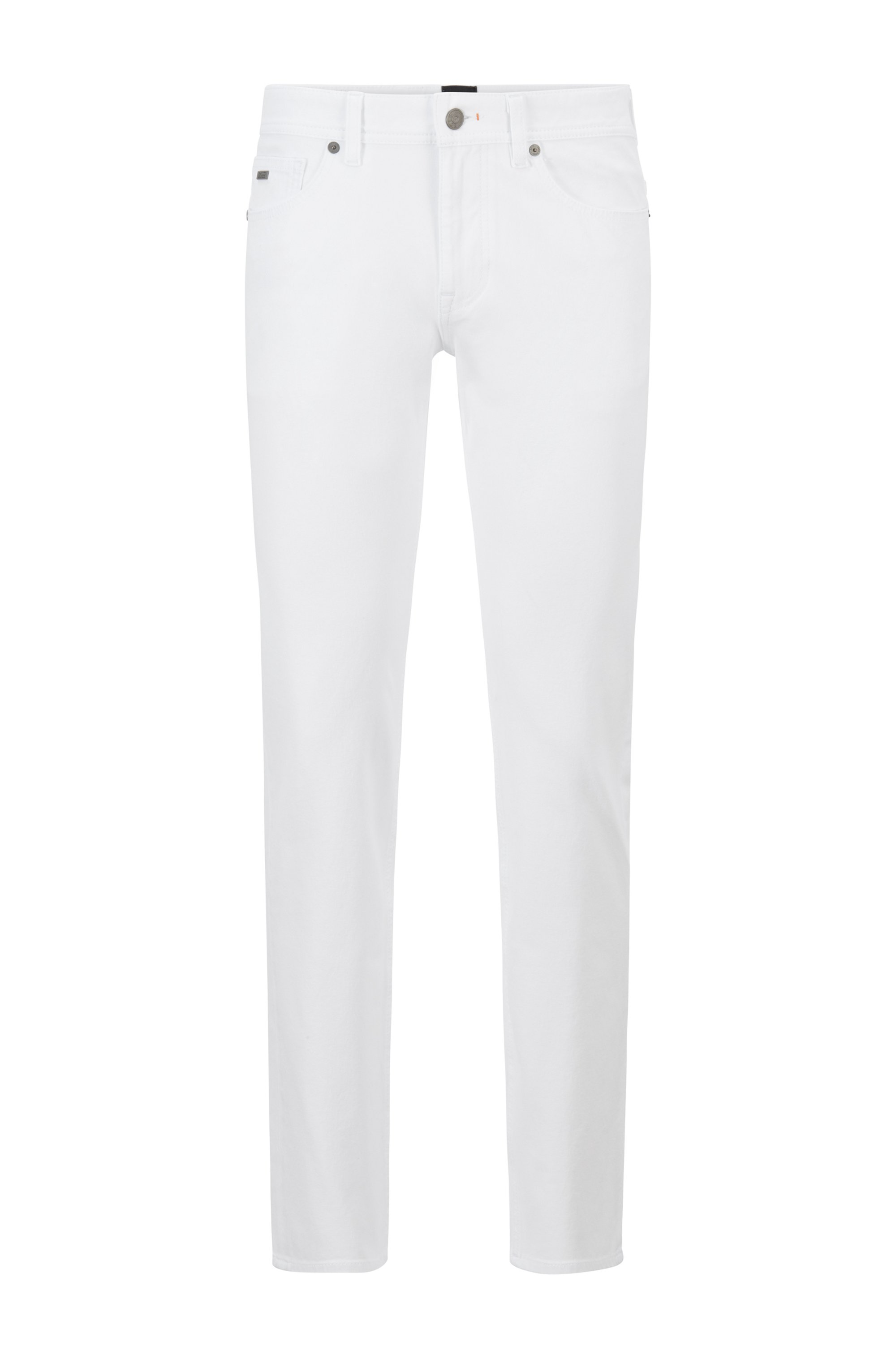 Slim-fit jeans in lightweight super-stretch cotton, White