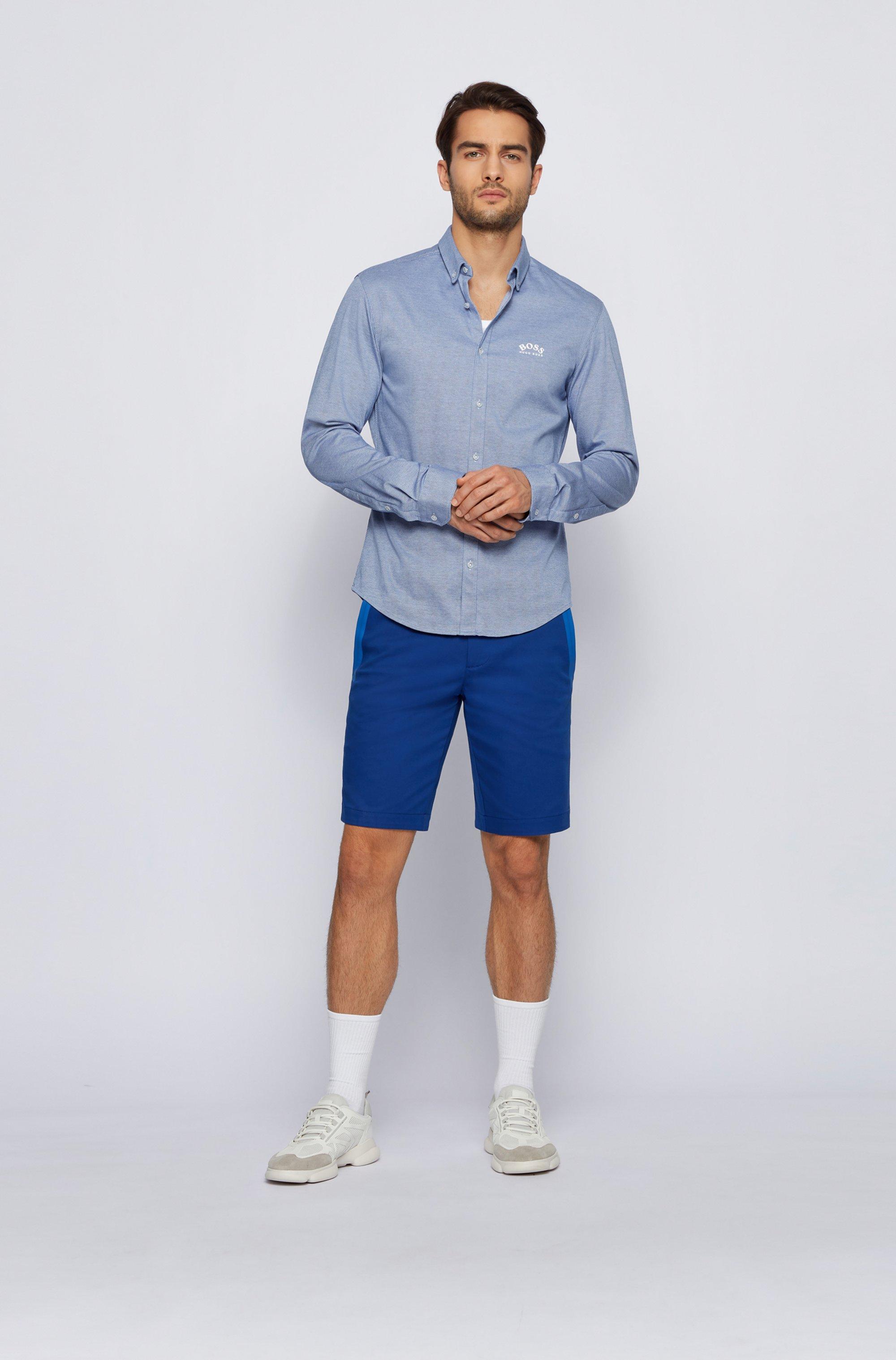 Camicia a maniche lunghe regular fit in jersey di cotone