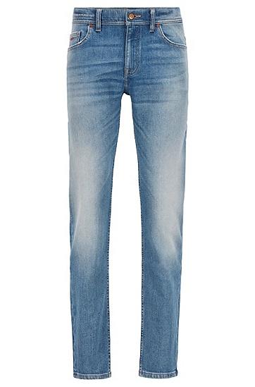 水洗修身舒适弹力牛仔裤,  433_Bright Blue