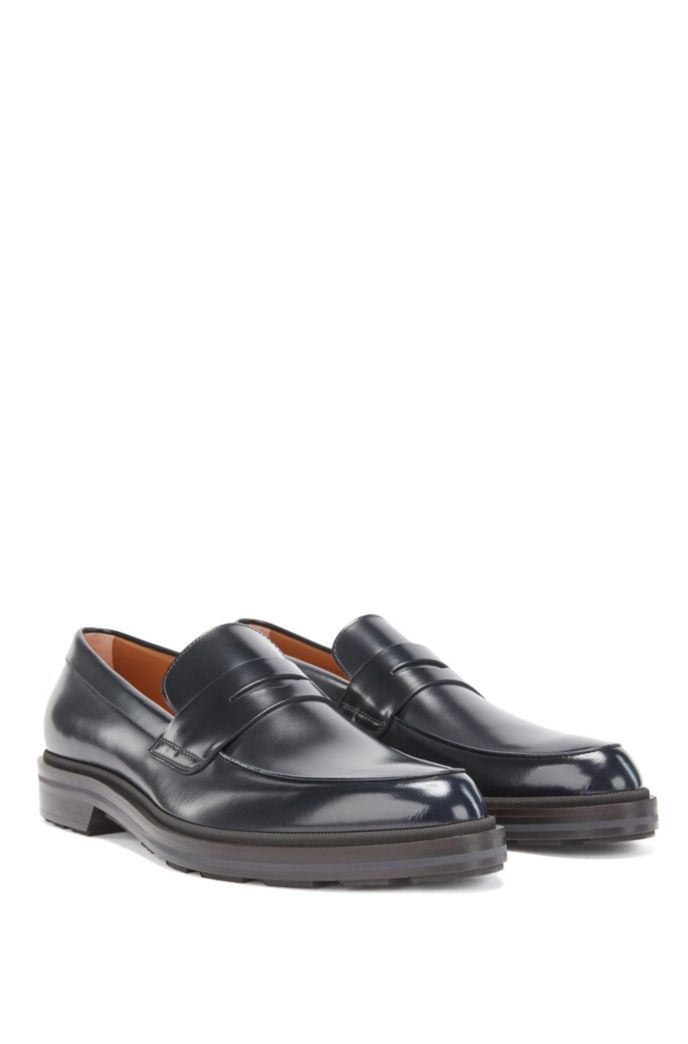 Loafers in calf leather with penny vamp