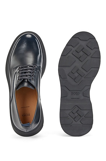 小牛皮德比鞋,  410_海军蓝色